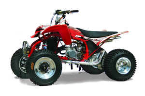 Cobra ECX 50 / 70 / 80 ATV Graphic Kit - All Years Carbon X Red