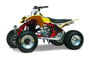 Cobra ECX 50 / 70 / 80 ATV Graphic Kit - All Years Carbon X Yellow