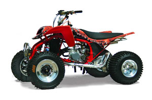 Cobra ECX 50 / 70 / 80 ATV Graphic Kit - All Years Reaper Red