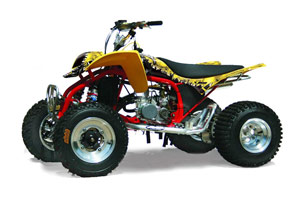 Cobra ECX 50 / 70 / 80 ATV Graphic Kit - All Years Reaper Yellow