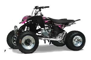 Cobra ECX 50 / 70 / 80 ATV Graphic Kit - All Years Tribal Flames Pink