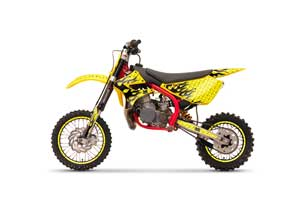Cobra CX 50 Jr Dirt Bike Graphic Kit - 2003-2011 Mad Hatter Yellow