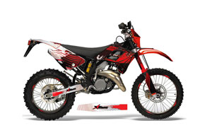 Gas Gas EC 300 Dirt Bike Graphic Kit - 2006-2008 Carbon X Red