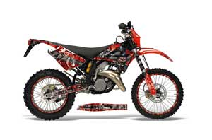 Gas Gas EC 250 Dirt Bike Graphic Kit - 2006-2008 Mad Hatter Red