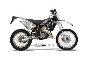 Gas Gas EC 300 Dirt Bike Graphic Kit - 2006-2008 Reaper White