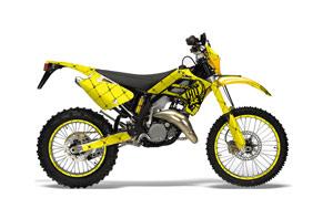 Gas Gas EC 300 Dirt Bike Graphic Kit - 2006-2008 Silver Star - Reloaded Yellow