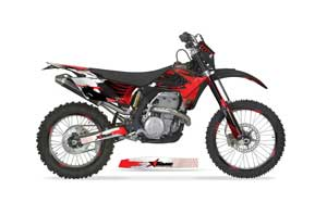 Gas Gas EC 250 Dirt Bike Graphic Kit - 2009-2010 Carbon X Red