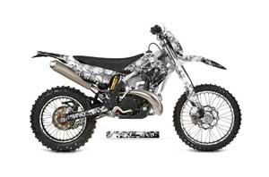 Gas Gas EC 300 Dirt Bike Graphic Kit - 2011-2012 Reaper White