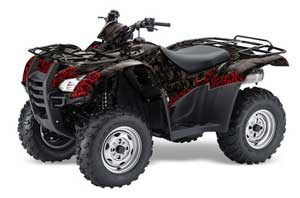 Honda Rancher AT ATV Graphic Kit - 2007-2013 Bone Collector Black