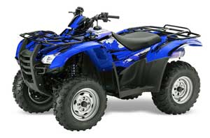 Honda Rancher AT ATV Graphic Kit - 2007-2013 Carbon X Blue