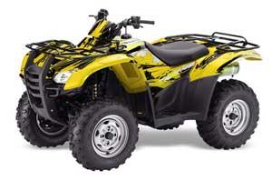 Honda Rancher AT ATV Graphic Kit - 2007-2013 Carbon X Yellow