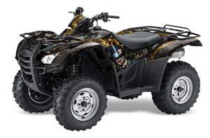 Honda Rancher AT ATV Graphic Kit - 2007-2013 Mad Hatter Black
