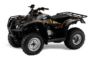 Honda Recon ES Fourtrax ATV Graphic Kit - 2005-2018 Mad Hatter Yellow