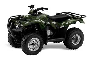 Honda Recon ES Fourtrax ATV Graphic Kit - 2005-2018 Camoplate Green