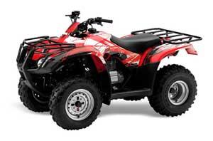 Honda Recon ES Fourtrax ATV Graphic Kit - 2005-2018 Carbon X Red