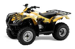 Honda Recon ES Fourtrax ATV Graphic Kit - 2005-2018 Carbon X Yellow