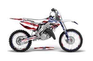 Honda CR250 Dirt Bike Graphic Kit - 1995-2015 Sin and Stripes