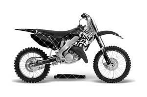 Honda CR250 Dirt Bike Graphic Kit - 1995-2015 Silver Star - Reloaded White