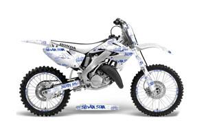 Honda CR250 Dirt Bike Graphic Kit - 1995-2015 Silver Star - Silverhaze White