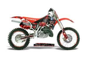 Honda CR500 Dirt Bike Graphic Kit - 1989-2001 Mad Hatter Red