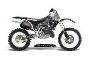 Honda CR500 Dirt Bike Graphic Kit - 1989-2001 Reaper Black