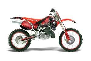 Honda CR500 Dirt Bike Graphic Kit - 1989-2001 Reaper Red