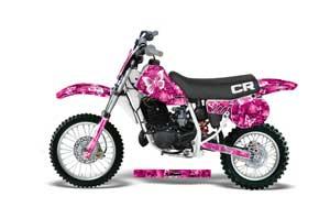 Honda CR60 Dirt Bike Graphic Kit - 1984-1985 Butterfly Pink
