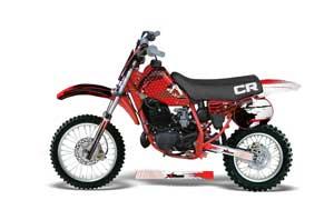 Honda CR60 Dirt Bike Graphic Kit - 1984-1985 Carbon X Red