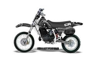 Honda CR60 Dirt Bike Graphic Kit - 1984-1985 Reaper Black