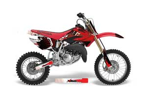 Honda CR85 Dirt Bike Graphic Kit - 2003-2007 Carbon X Red