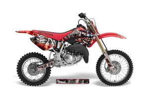 Honda CR85 Dirt Bike Graphic Kit - 2003-2007 Mad Hatter Red