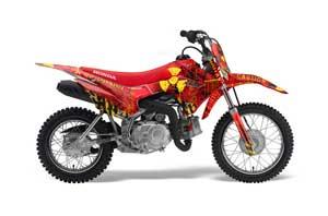 Honda CRF110 F Dirt Bike Graphic Kit - 2013-2018 Meltdown Red