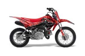 Honda CRF110 F Dirt Bike Graphic Kit - 2013-2018 Reaper Red