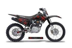 Honda CRF230 F Dirt Bike Graphic Kit - 2003-2007 Northstar Black