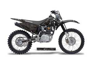 Honda CRF230 F Dirt Bike Graphic Kit - 2003-2007 Reaper Black