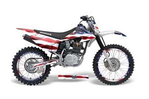 Honda CRF150 F Dirt Bike Graphic Kit - 2008-2014 Stars and Stripes Red White & Blue