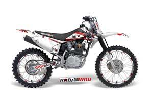 Honda CRF230 F Dirt Bike Graphic Kit - 2008-2014 Toxicity White