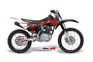 Honda CRF150 F Dirt Bike Graphic Kit - 2008-2014 Carbon X Red