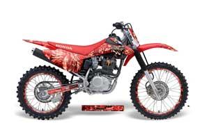 Honda CRF150 F Dirt Bike Graphic Kit - 2008-2014 Mad Hatter Red