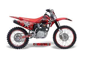 Honda CRF150 F Dirt Bike Graphic Kit - 2008-2014 Northstar Red