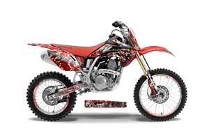 Honda CRF150 R Dirt Bike Graphic Kit - 2007-2016 Mad Hatter Red