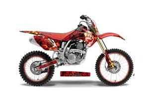 Honda CRF150 R Dirt Bike Graphic Kit - 2007-2016 Motorhead Mandy Red