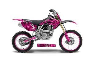 Honda CRF150 R Dirt Bike Graphic Kit - 2007-2016 Butterfly Pink