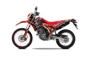 Honda CRF250 L Enduro Dirt Bike Graphic Kit - 2013-2016 Mad Hatter Red
