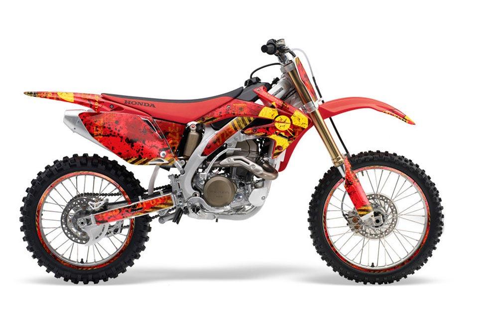 Honda CRF450 R Dirt Bike Graphic Kit - 2002-2012 Meltdown Red