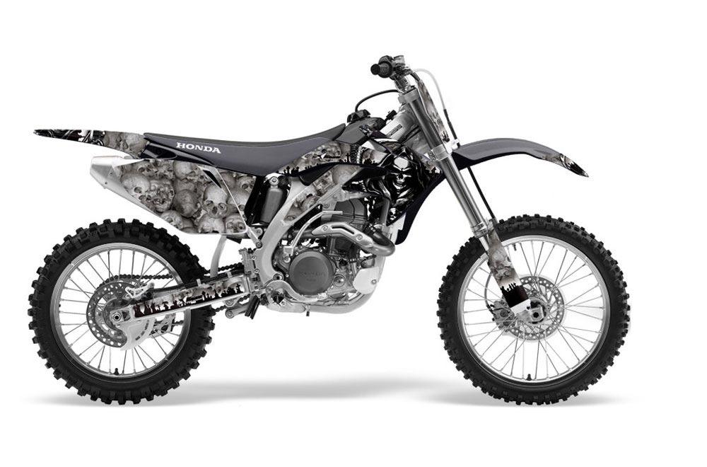 Honda CRF450 R Dirt Bike Graphic Kit - 2002-2012 Reaper Silver