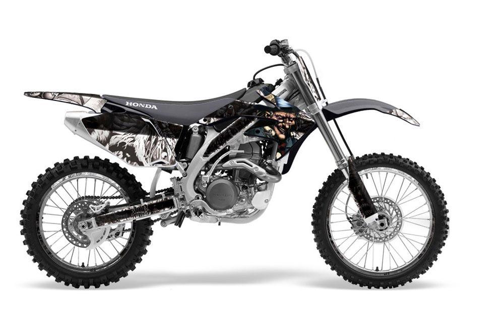 Honda CRF450 R Dirt Bike Graphic Kit - 2002-2012 Mad Hatter White