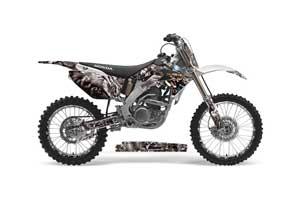 Honda CRF250 R Dirt Bike Graphic Kit - 2004-2013 Mad Hatter Silver