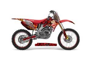 Honda CRF250 R Dirt Bike Graphic Kit - 2004-2013 Motorhead Mandy Red