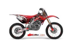 Honda CRF250 R Dirt Bike Graphic Kit - 2004-2013 Carbon X Red
